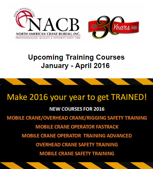 Find A Distributor Blog NACB Launches New Crane Courses for