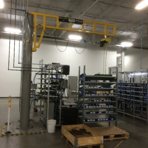 MET-TRACK® Workstation Jib Crane