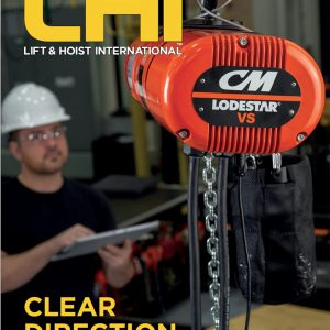 International magazine focussing on overhead cranes, hoists, fork lifts and aerial work platforms