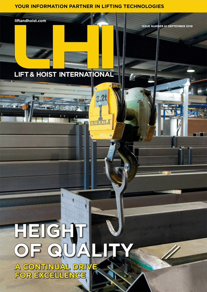 Lift and Hoist International is a magazine for the overhead lifting industry