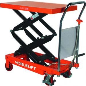 Noblelioft manual double scissor lift table