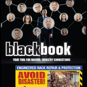 Material Handling equipment manufacturers that manufacture forklifts, forklift attachments, racking and shelving, lifting equipment, storage solutions and other warehouse equipment advertise in the B~alck Book published by Material Handling Wholesaler magazine