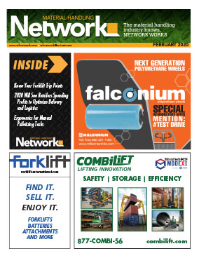 Material Handling Network magazine is read bu manufacturing plants and warehouse managers that source and buy material handling equipment and services in North America