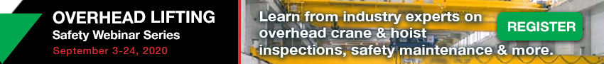 Overhead Lifting Safety Webinar Series