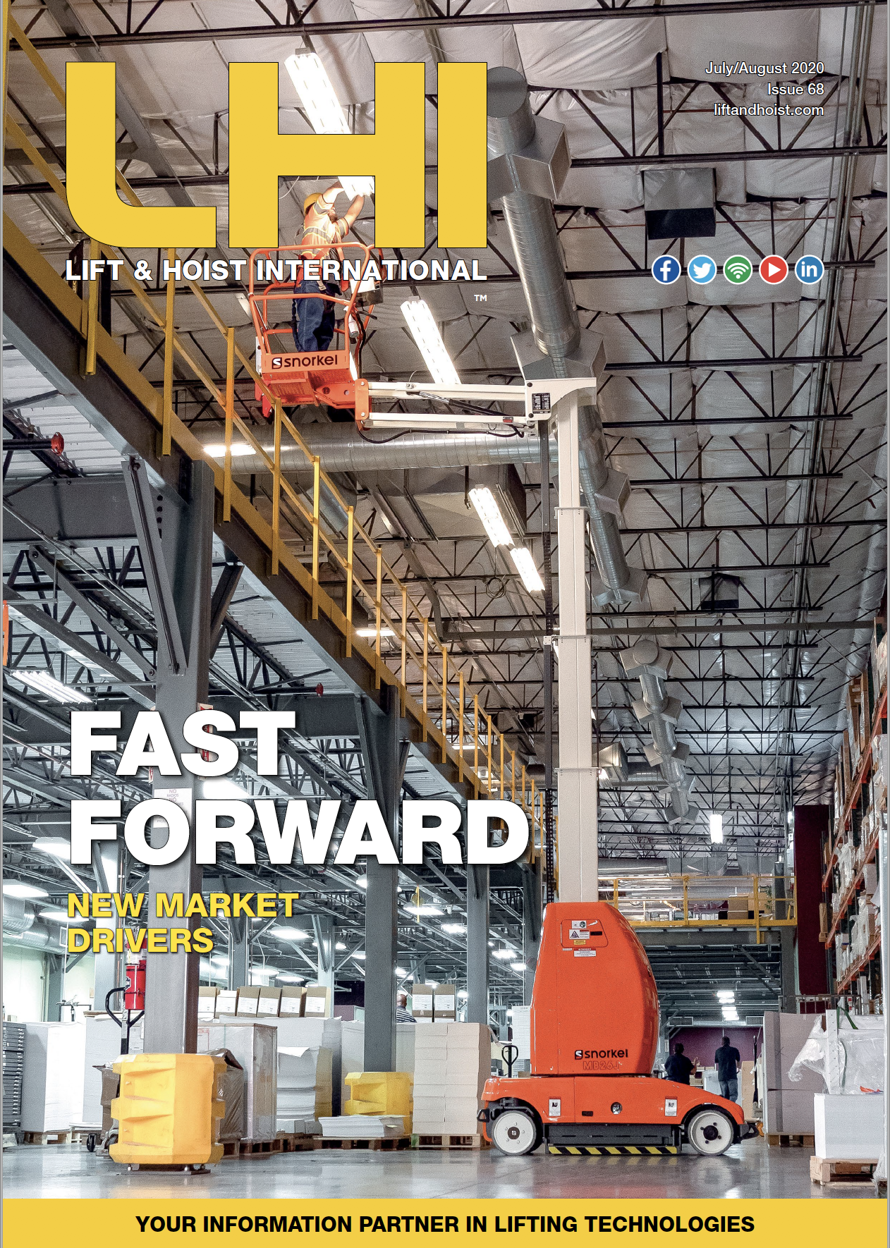 Lift and Hoist International is a trade magazine for overhead cranes and hoists