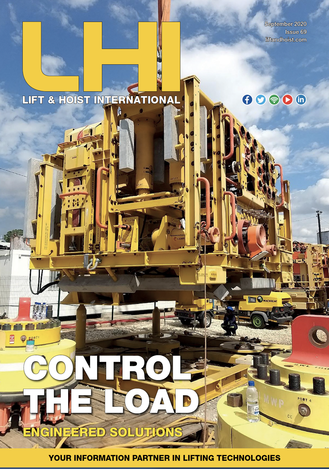 Lift and Hoist International is a magazine for the lifting and hoisting world focussing on overhead cranes, hoists, access equipment and forklift trucks