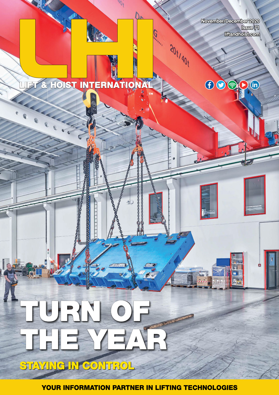 Lift & Hoist International is an overhead crane and hoist magazine which also writes about other lifting technologies