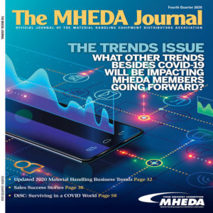 The MHEDA Journal is a magazine for the material handling distributors association