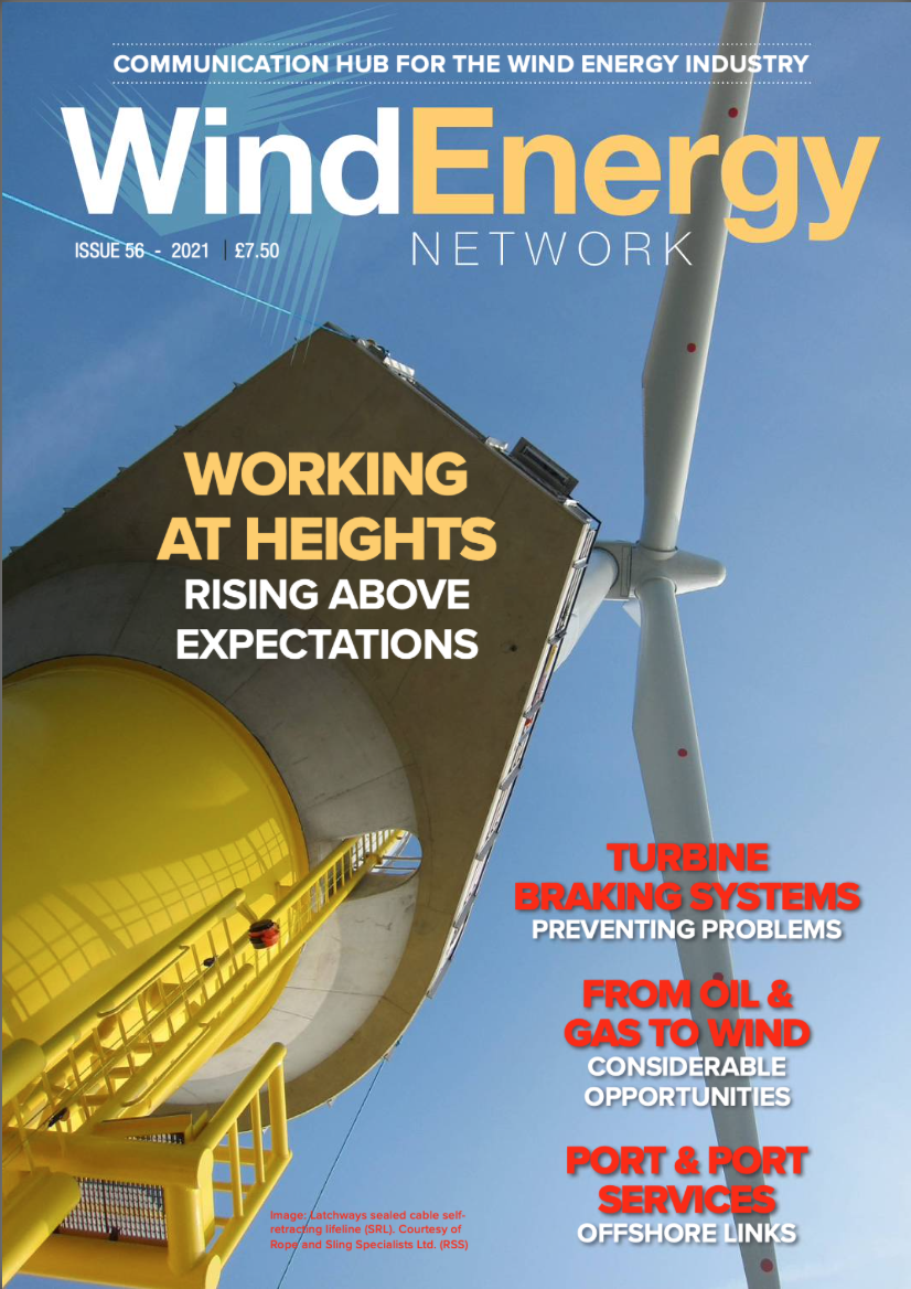 Wind Energy Network is a trade magazine for wind energy, wind farms, offshore and renewable energy industries