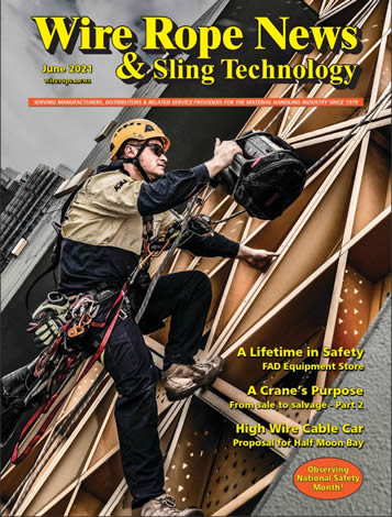 Wire Rope News & Sling Technology is a trade publication for the cranes and lifting industry in the USA